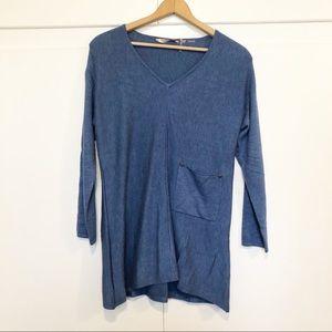 Soft Surroundings Women's Blue Stretch Soft Tunic